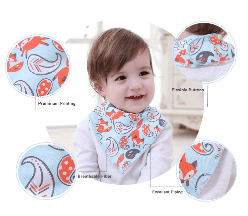 Image of Baby with fox bib- Bumbini Cloth Diaper Company