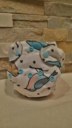 Newborn All in One Birds Diaper - Bumbini Cloth Diaper Company