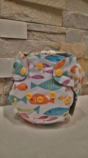 Newborn All in One Goldfishes Diaper - Bumbini Cloth Diaper Company