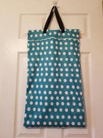 Large Hanging Double Pocket Wetbag White Dots - Bumbini Cloth Diaper Company