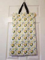 Large Hanging Double Pocket Wetbag Lemons - Bumbini Cloth Diaper Company
