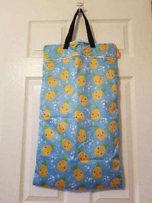 Large Hanging Double Pocket Wetbag Pinapples- Bumbini Cloth Diaper Company