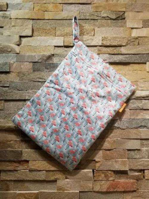 Medium Double Pocket Wetbag Hearts- Bumbini Cloth Diaper Company