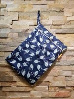 Medium Double Pocket Wetbag Whales- Bumbini Cloth Diaper Company
