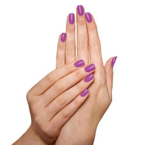 Model With Sophi Nail Polish Plum'p up the Volume  Plum Purple