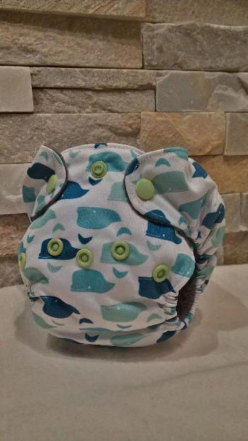 Newborn All in One Whales Diaper - Bumbini Cloth Diaper Company