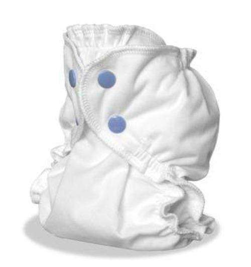 AppleCheeks Little Bundles that includes absorbent insert (Size 2) white - Bumbini Cloth Diaper Company