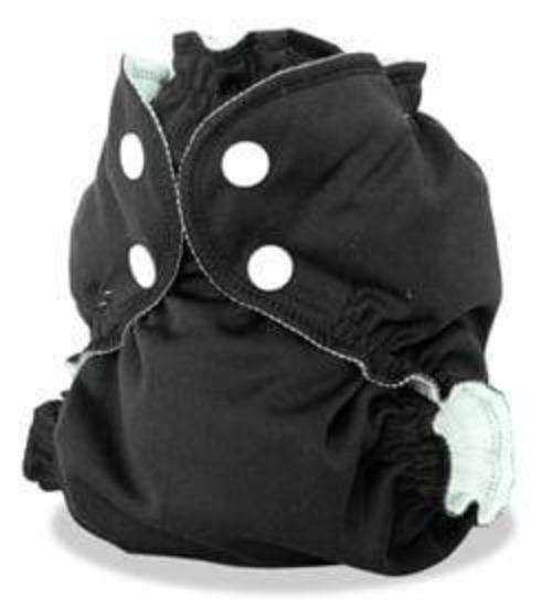 AppleCheeks Little Bundles that includes absorbent insert (Size 2) black- Bumbini Cloth Diaper Company