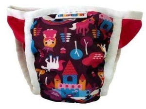 Bummis Potty Pant Castles And Princess On Pink Background - Bumbini Cloth Diaper Company