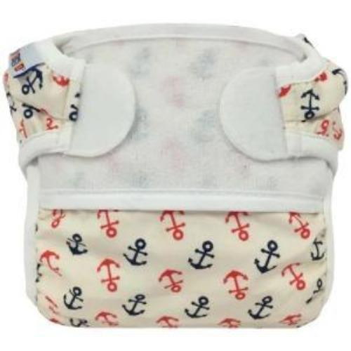 Bummis Swimmi Swim DIaper With Red And Blue Anchors- Bumbini Cloth Diaper Company