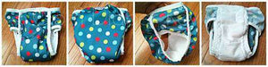 collage of different views of underpants- Bumbini Cloth Diaper Company