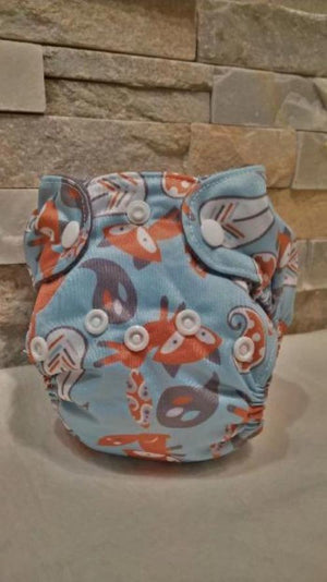 Newborn All in One Fox Diaper - Bumbini Cloth Diaper Company