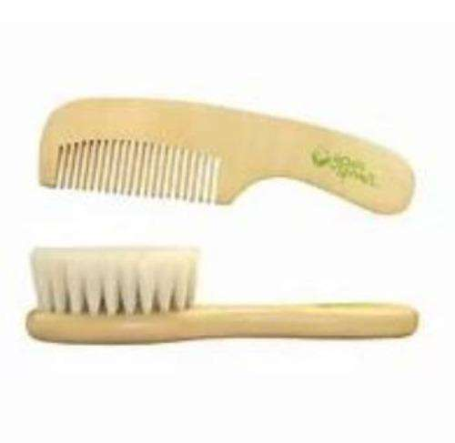 Natural Brush and Comb Set