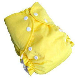 Duo pocket diaper - Yellow- Bumbini Cloth Diaper Company