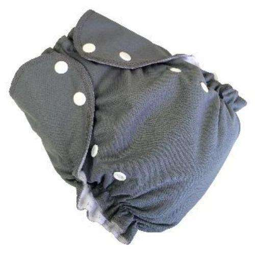Duo pocket diaper - Grey- Bumbini Cloth Diaper Company