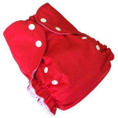 Duo pocket diaper - Red- Bumbini Cloth Diaper Company