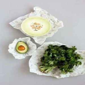 Abeego - Beeswax Variety Pack to wrap cantaloupe, avocado and bunch of parsley
