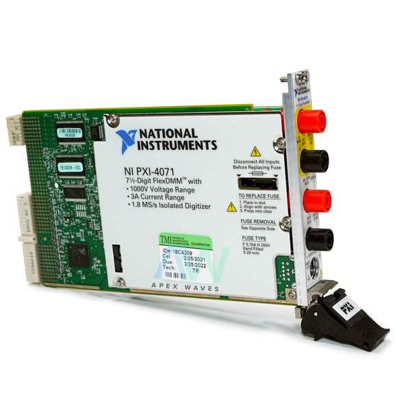 PXI-4071 NI PXI Digital Multimeter | (NIST Traceable Calibrated) Same Day Shipping, 2 Year Warranty from Apex Waves, LLC