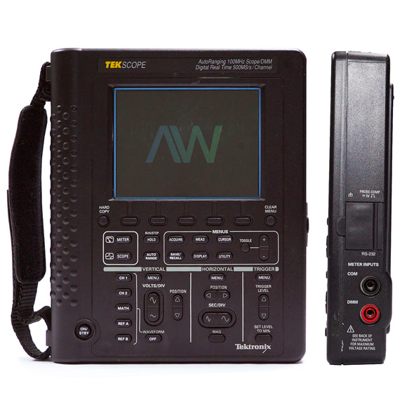 Tektronix THS720 Digital Oscilloscope: 100MHz,500MSa/s,2ch | Same Day Shipping, 1 Year Warranty from Apex Waves, LLC