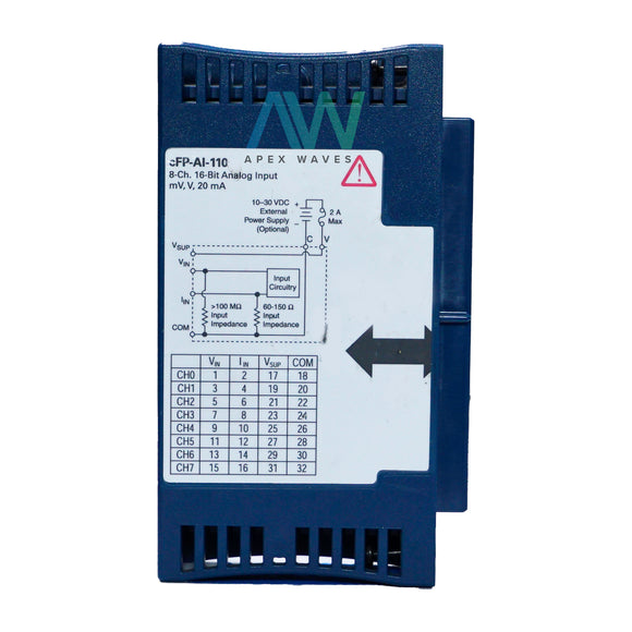 National Instruments NI cFP-AI-110 Analog Input Module | Same Day Shipping, 1 Year Warranty from Apex Waves, LLC