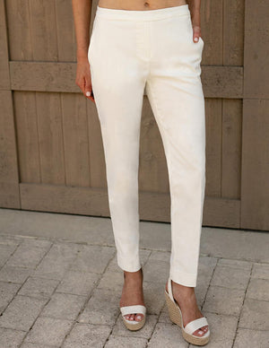 Fit Fabulous Pull-On Pant With Pocket White