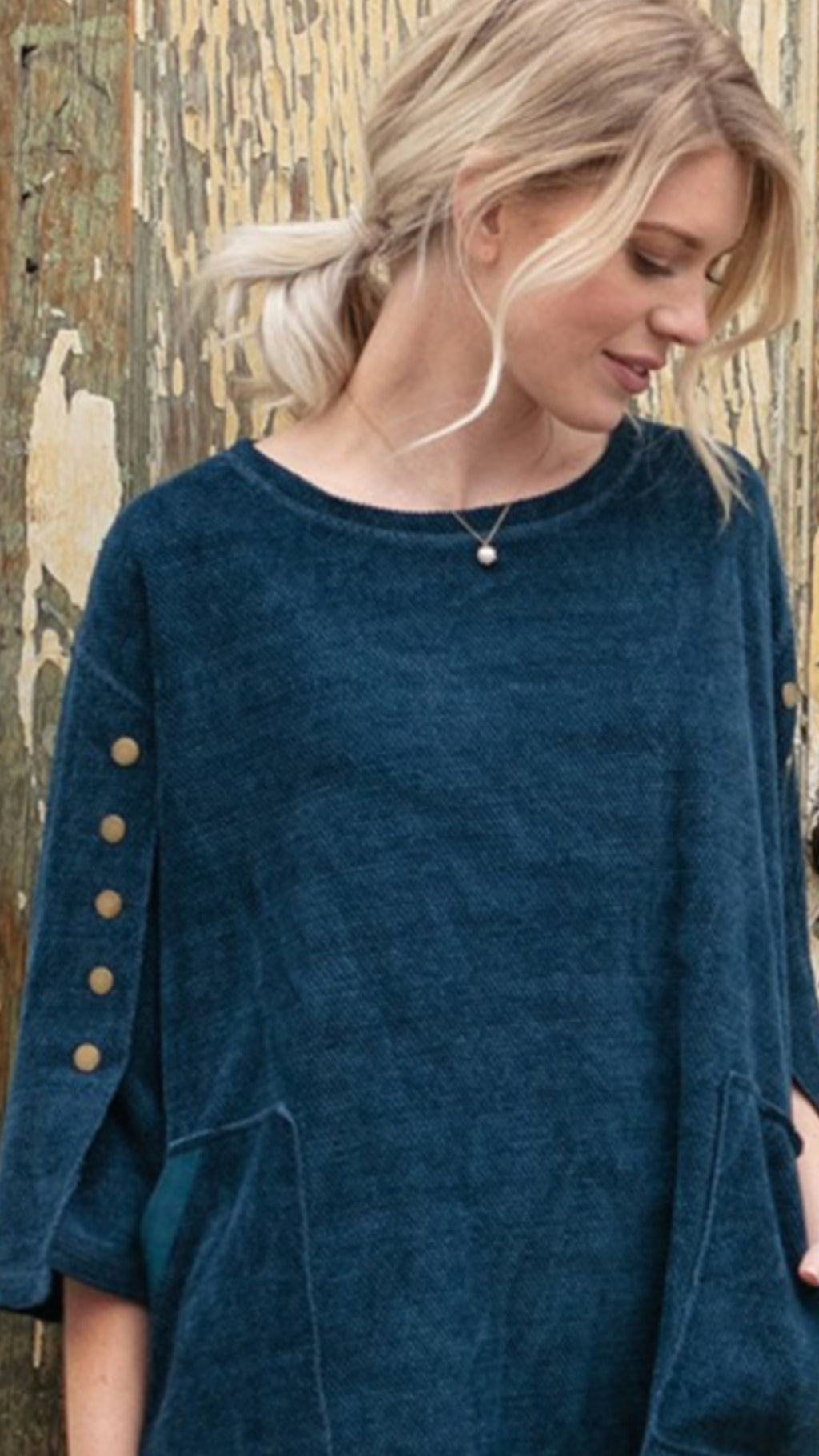 Boatneck Boxy Top Dark Teal