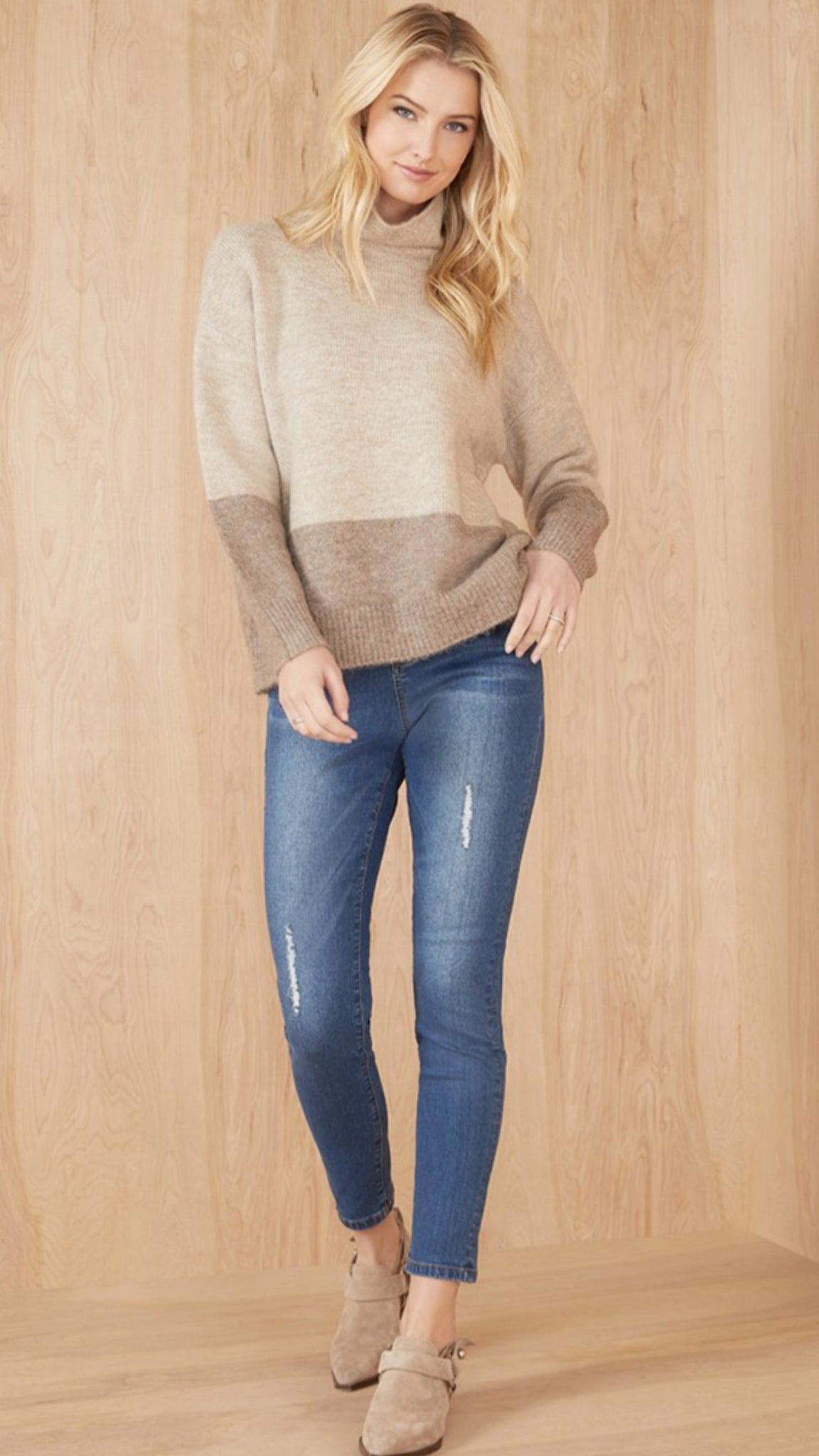 Golden Hour Colorblock Sweater