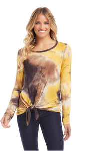 Golden Hour LS Side Tie Top
