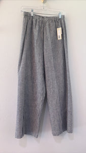 Wide Leg Crop Pant Heather Blue