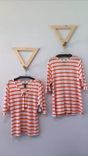Striped Flip Tee Tangerine