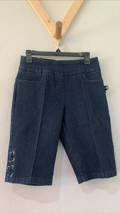Thin Her PO Shorts With Laces DK Indigo
