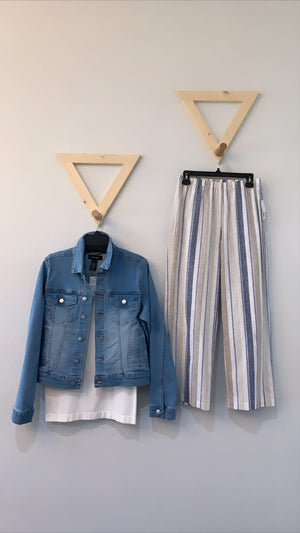 Karen Kane Denim Jacket Lt Blue