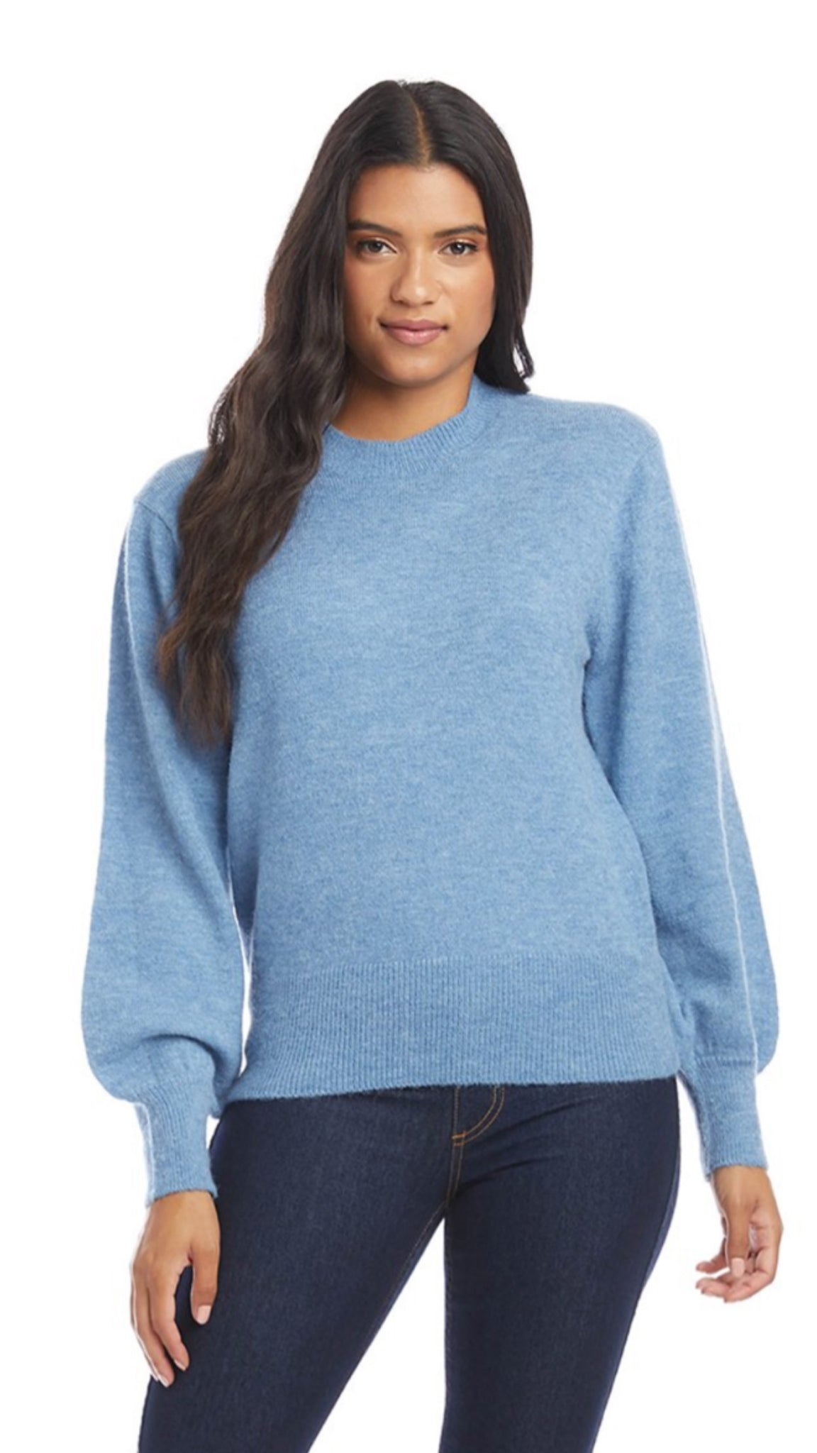 Field Day Blouson Sleeve Sweater Blue