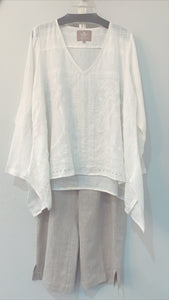 Emilie Embroidered Top White