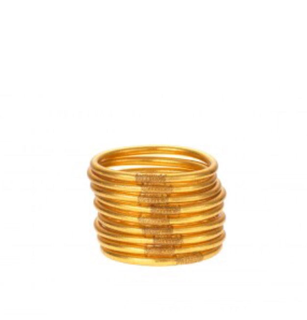 BuDhaGirl Serenity Prayer Bangles Gold
