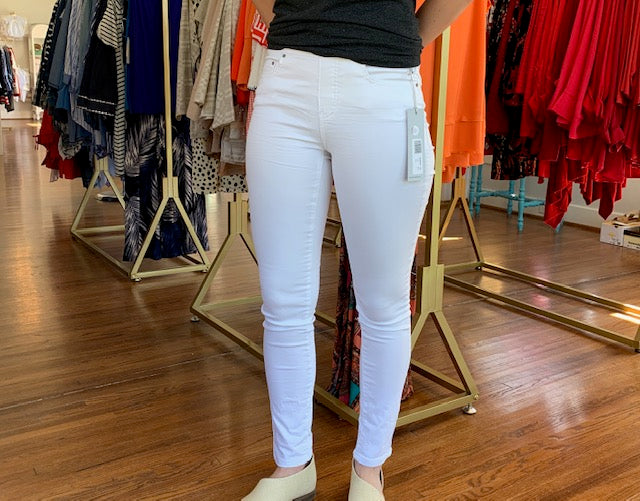 Fit Fabulous French Terry Pull On Legging White