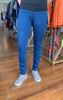 Fit Fabulous Pull On French Terry Jean Indigo