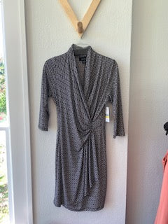 Wrap Dress Black and White