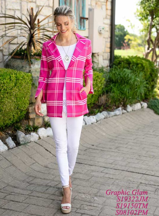 Plaid Jacket With Flared Sleeve