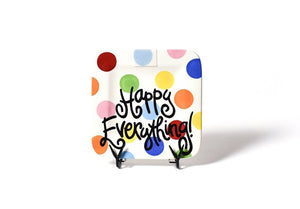 Happy Everything Mini Square Plate Multi Dot
