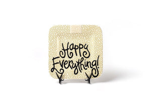 Happy Everything Mini Square Plate Gold Dot