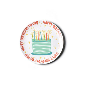Happy Birthday Melamine Dinner Plate