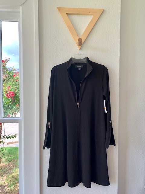 Zip Up Travel Dress Black