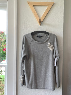 Embellished Sweatshirt Lt Heather Gray