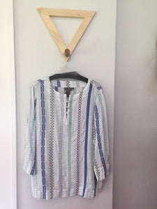 Stripe Embroidered Tunic