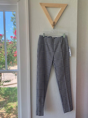 Fit Fabulous Houndstooth Pant Navy