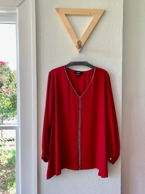 Starlight Long Sleeve Top Red