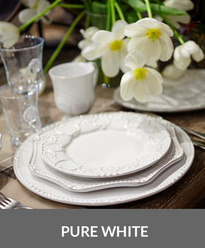 Isabella Pure White Dinnerware