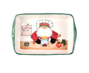 Old St Nick Rectangular Baker With Chef