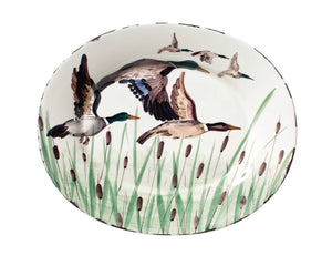 Wildlife Hunting Dog Large Oval Platter
